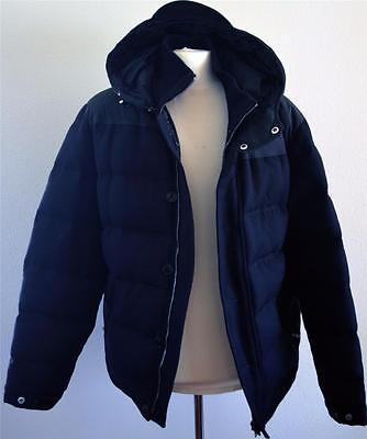 4fb70381c RARE! GUCCI ITALY Black Goose Down/Wool/Leather Hooded Puffer Coat ...