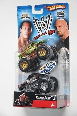 2007 Smack Pack 2 Hot Wheels Monster Jam Wwe The Rock Stone Cold Steve Austin 71 00 Picclick