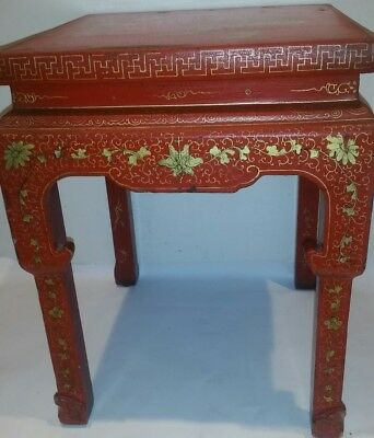 Antique Chinese Ming Dynasty Painted End Table 1800-1849