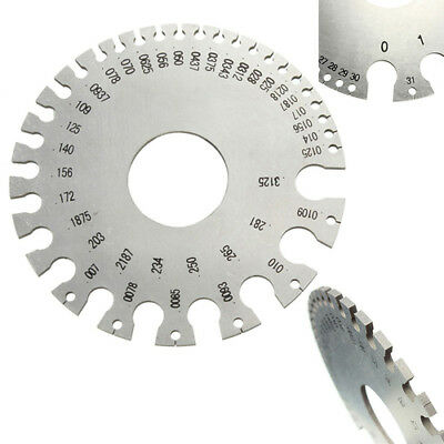 Stainless Steel Round AWG SWG Wire Thickness Measurer Ruler Gauge Diameter Tool
