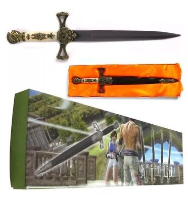 """Brass Medieval Double Edged Stainless Steel Dagger 14"""""""