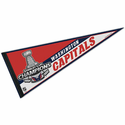 Washington Capitals Full Size NHL Stanley Cup 2018 Hockey Champions Pennant