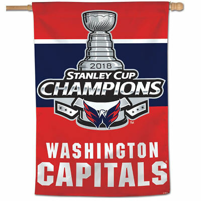 NHL Washington Capitals Stanley Cup 2018 Champions House Flag