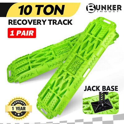 BUNKER INDUST Sand Recovery Tracks Mud Snow Grass Trax Car Offroad 4WD 4x4 Green