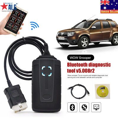 WOW Snooper V5.008 R2 Cars and Trucks Bluetooth Software Diagnostic 2018