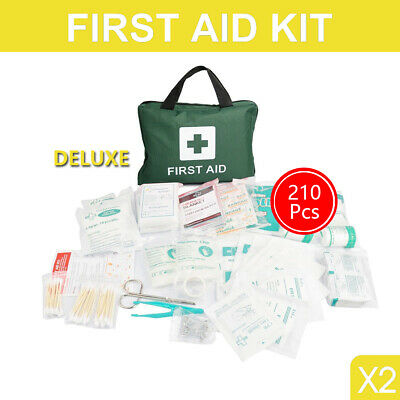 2x 210 Pieces First Aid Emergency Kit Supplies Survival Medical First Aid Bag