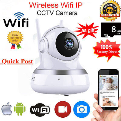 1080P HD Wireless IP Camera Home Security Smart WiFi Audio CCTV Camera + Free 8G