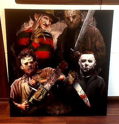 FREDDY KRUEGER, LEATHERFACE, JASON, MICHAEL MYERS, BILD/PICTURE 56x60