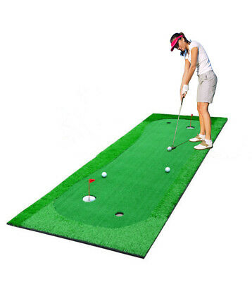 PERSONAL SIMULATION Golf Putting Green Indoor outdoor Practice Mat ...
