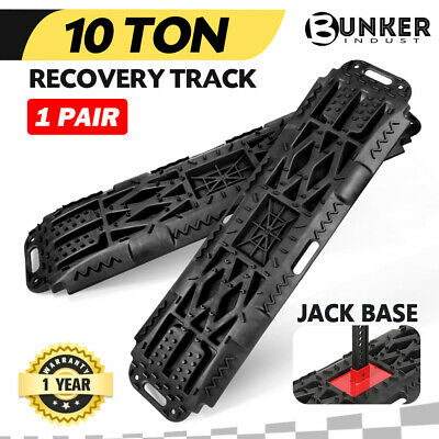 Recovery Tracks Sand Mud Snow Black Track/Trax 10T W/ Farm Jack Base Offroad 4WD