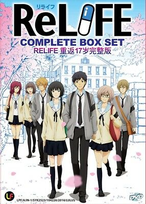 DVD Japan Anime ReLIFE Complete Series (1-13 End) English Subtitle Region 0