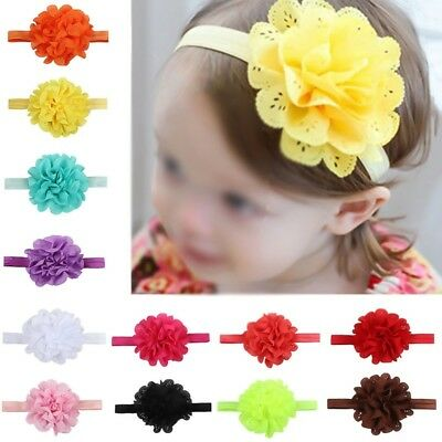 1Pc Girl Kids Baby Infant Toddler Bow Flower Headband Headwear