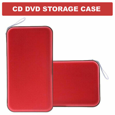 80 CD DVD Carry Case Disc Storage Holder CD Sleeve Wallet Box Ideal for In Car