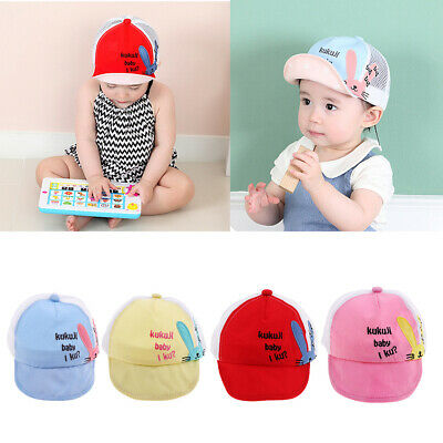 Children Baby Vintage Mesh Snapback Trucker Cap Kids Baseball Hat Adjustable