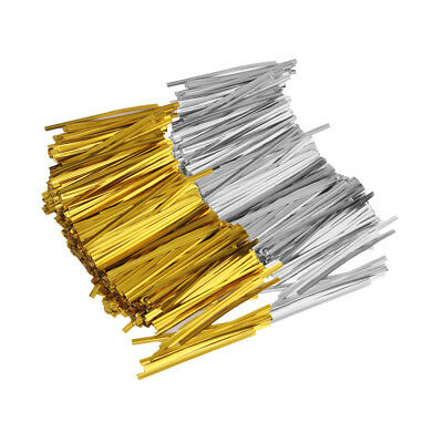 1600pcs Multicolo Metallic Twist Ties Wire DIY Cake Pops Gift Wrapping Craft