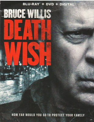 DEATH WISH (Blu-ray/DVD, 2018, Includes Digital Copy) NEW WITH SLEEVE