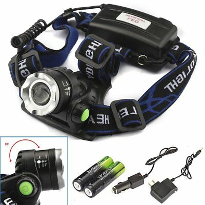 CREE XML Zoomable 8000LM Headlamp T6 LED Headlight Light Head Torch lamp Battery