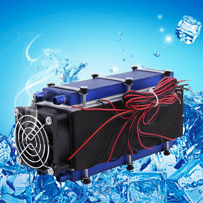 12V 576W 8-Chip TEC1-12706 Water Air Cooling Cooler Refrigeration Device System