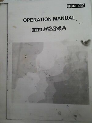 Hamada h234a operation manual unbound print or pdf