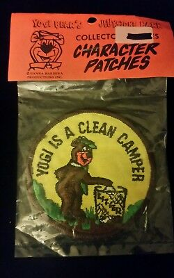 """☆Rare☆ Vintage Yogi Bear Is A Clean Camper Patch New 3"""""""
