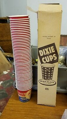 Vintage Maxwell House Coffee  Dixie Cup Samples  Whole  box of 50