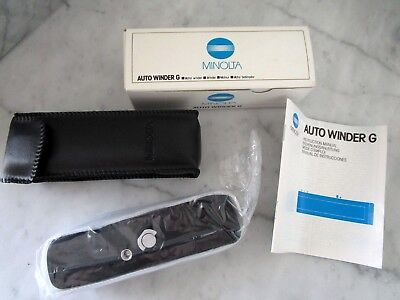 Minolta Auto Winder G All Original Packaging with case and Owner's Manual