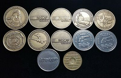 Lot of 12 Mixed Collector Tokens Guns & Ammo Air Force Nascar  BX6-MTOK96