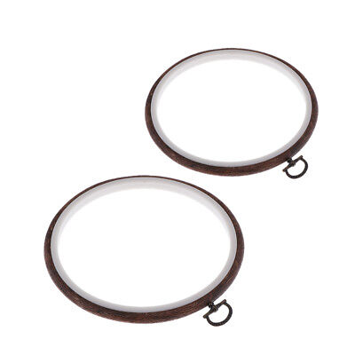 2Pcs Wooden Frame Hoop Ring Embroidery Cross Stitch Tool Art Craft 11 15cm