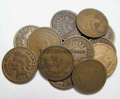 1902 1c Indian Head Cent Old US Penny Coin Ungraded Circulated PRICE PER COIN