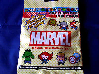 Disney * MARVEL CHARACTERS * New & Sealed * 5-pin Collectible Mystery Pin Pack