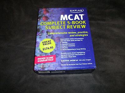 Kaplan mcat complete 5 book subject review 2013 full color prep kaplan mcat complete subject review book set 5 books study guide mint malvernweather Image collections