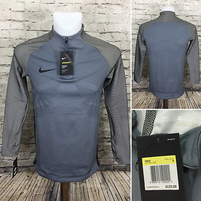 0cc22e51 Nike Aeroswift Soccer 1/4 Zip Football Shirt Gray Men Size Small NEW A14-