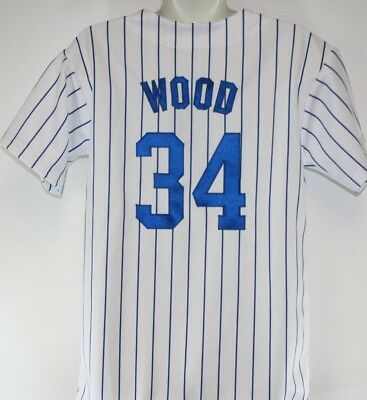 NEW Boys Kids Youth Majestic Chicago Cubs Kerry Wood #34 MLB Baseball Jersey
