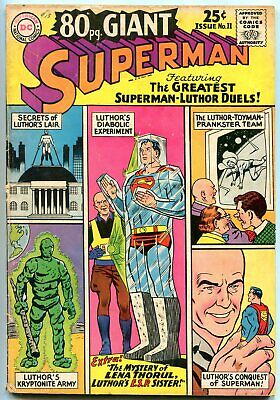 80 Page Giant #11 1965-Superman- Luthor issue- G/VG
