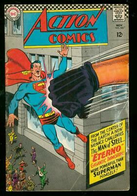 Action Comics #343 1966-Superman-Eterno-Dc Comic-Action G