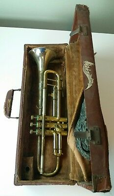 Vintage Chris Kratt A K Huttl Trumpet  West Germany With Case Tested & Working!