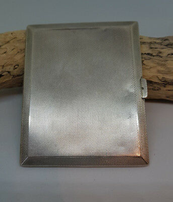 Used Antique Solid Silver Cigarette Card Holder Case 122.3 G.