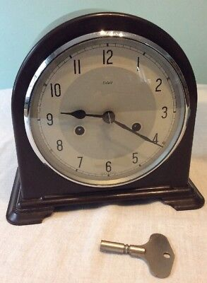 Smiths Enfield Bakelite Mantel Clock. Made In England. Chime Mechanical.