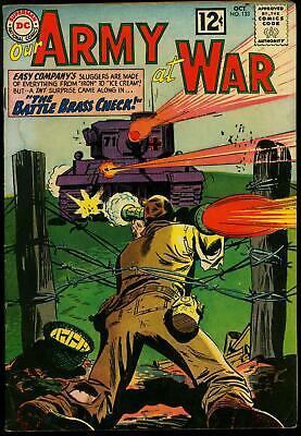 Our Army at War #123 1962- DC War Comic- Sgt Rock Easy co- Silver Age G/VG