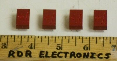 """Lot of 4 - HP Agilent 5082-7656 .43"""" ±1 Red LED Display High Output"""