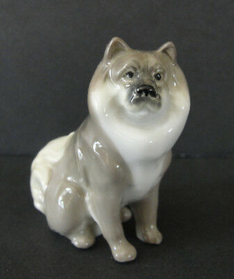 Keeshond Dog Ceramic Collectible Figurine Made in Germany