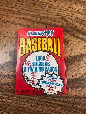 One Unopened Pack of 1991 Fleer Baseball Cards