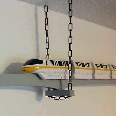 Trapeze Bracket for Suspending Disney Monorail Track from Ceiling