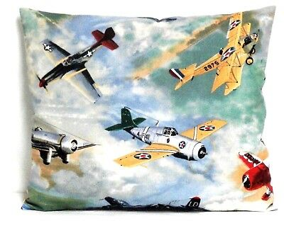Airplanes Toddler Pillow on Blue sky background Cotton AP1-42 New Handmade