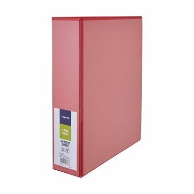 J.Burrows Insert Binder A4 4 D-Ring 50mm Red