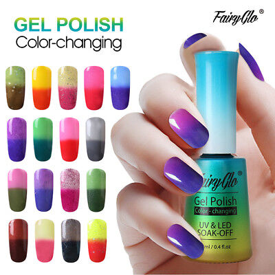 FairyGlo Temperature Thermal Color-Changing Soak Off UV LED Gel Nail Polish 12ml