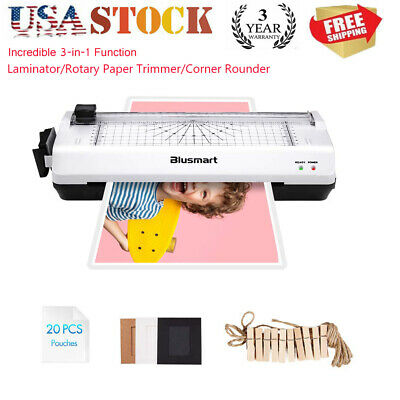 3 in 1 Thermal Laminator Machine Pouches Set Paper Card Photo Cutter Office Gift