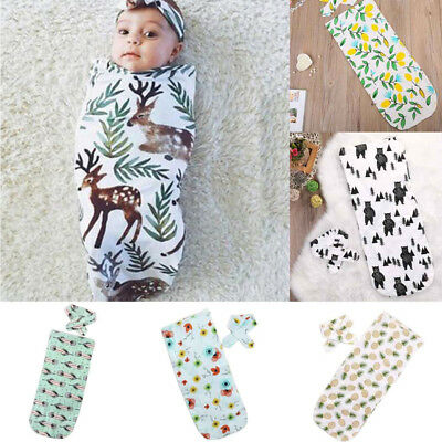 Baby Swaddle Blanket Wrap Infant Swaddle Sack Bag Set Cloth Nursery Sleeping Bag