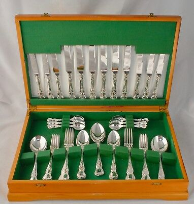 Superb RODD CAMILLE Silver Plate Silver Cutlery Canteen for 6 People - 44 Pieces