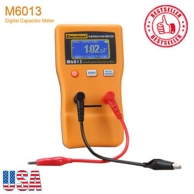 Digital LCD Capacitor Tester Capacitance Meter 0.01 pF to 470000uF Auto Range US